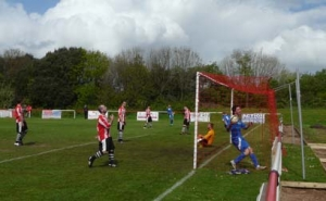 Alex North scores Llanwern's first